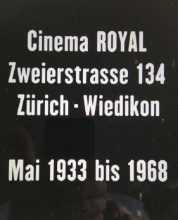 Abspann Cinema Royal 1933-1968